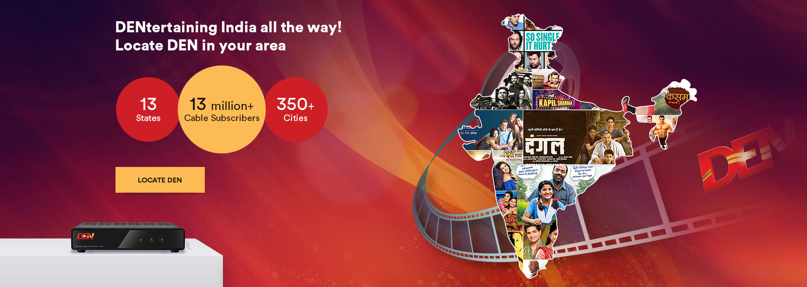 Download DEN TV - Now experience TV on your Mobile - digital cable India